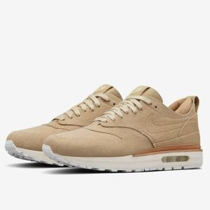 NWOT RARE Nike Air Max 1 Royal Linen Summit White